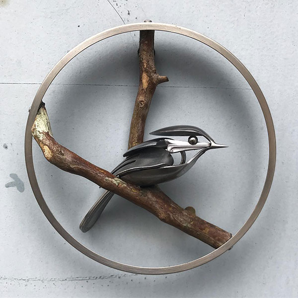 utensil birds by matt wilson airtight artwork11 Matt Wilson Upcycles Old Utensils Into Beautiful Birds (23 Photos)