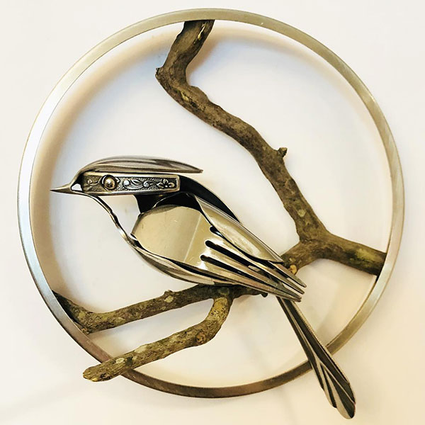 utensil birds by matt wilson airtight artwork13 Matt Wilson Upcycles Old Utensils Into Beautiful Birds (23 Photos)
