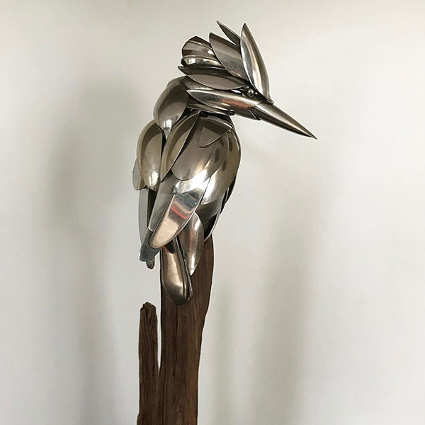 utensil birds by matt wilson airtight artwork4 Matt Wilson Upcycles Old Utensils Into Beautiful Birds (23 Photos)