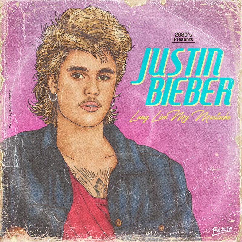 80s album covers of todays pop stars 17 These Retro 80s Album Covers of Todays Pop Stars are Totally Radical