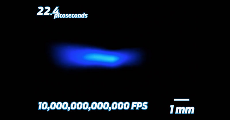 Filming the Speed of Light at 10 Trillion Frames Per Second