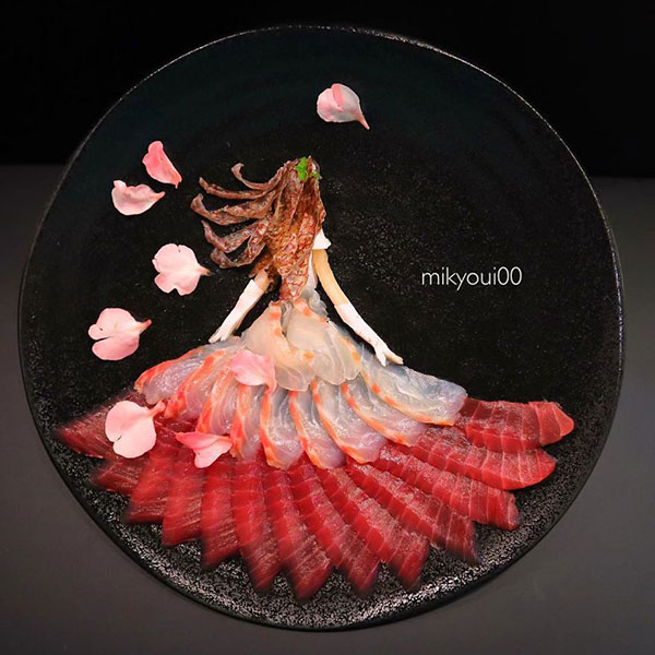 this chef plates the most beautiful sashimi art ive seen mikyou instagram 17 This Chef Plates the Most Beautiful Sashimi Art Ive Seen