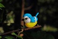 Balloon Birds Caught in Their Natural Habitat