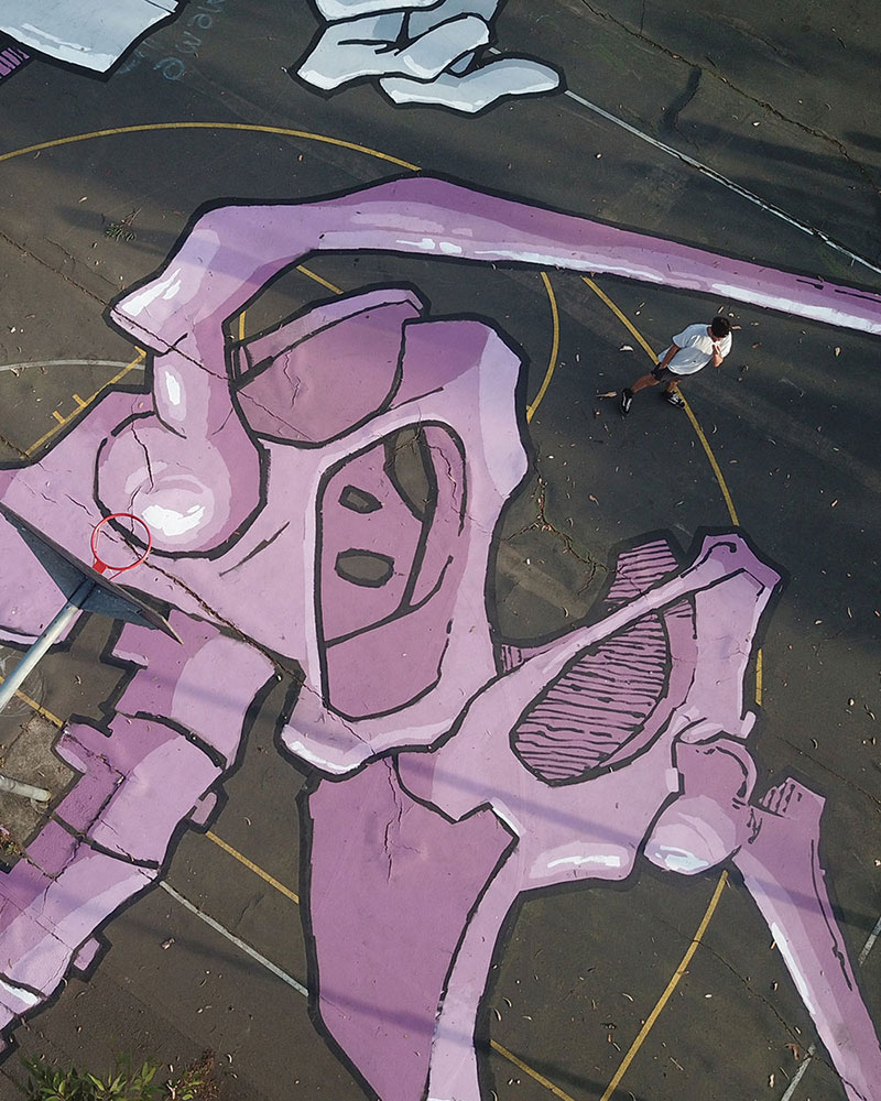 giant murals by kitt bennett6 Imagine Working in a High Rise and Seeing These On the Ground