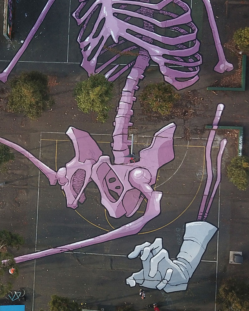 giant murals by kitt bennett7 Imagine Working in a High Rise and Seeing These On the Ground