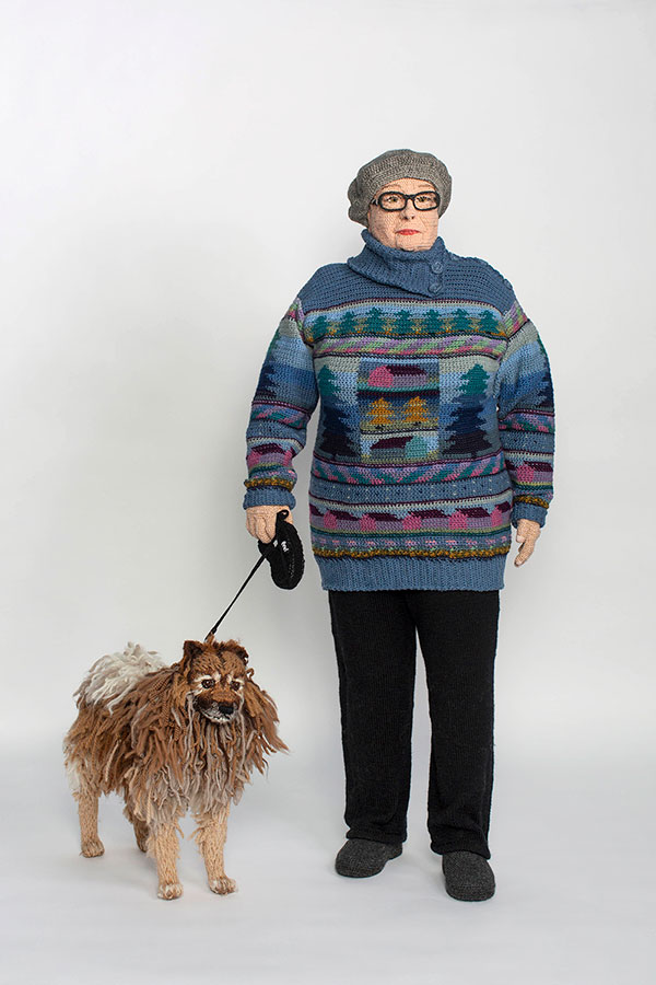 life sized crochet doubles by liisa hietanen 5 Surreal Photos of People Posing With Their Life Size Crochet Double