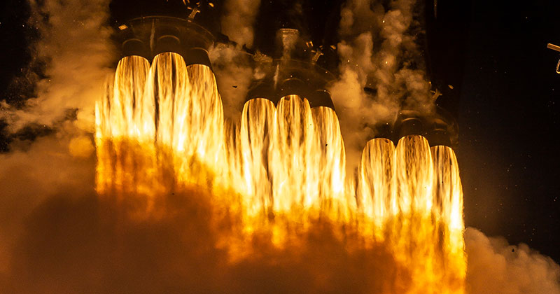 SpaceX Launches Satellite, Then Lands All 3 Booster Rockets For First Time Ever