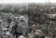 "The First Color Transition Scene in Peter Jackson's ""They Shall Not Grow Old"""