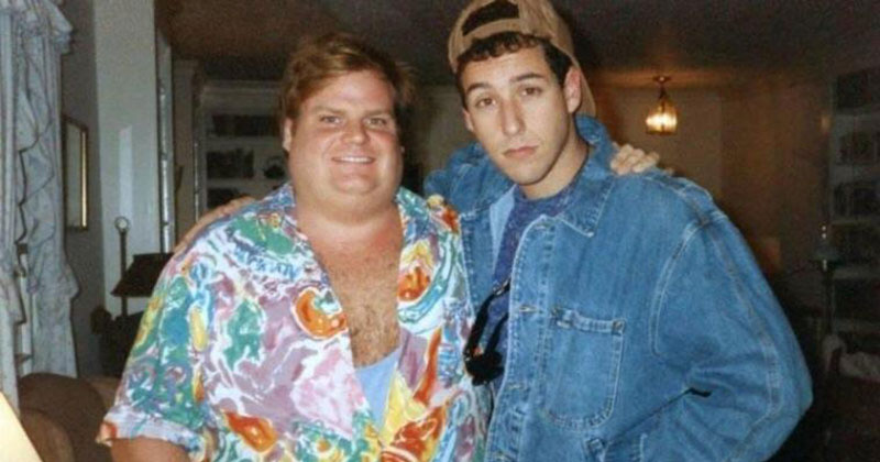 Adam Sandler Hosted SNL and Ended the Night With the Most Touching Chris Farley Tribute