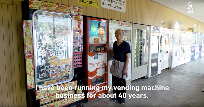 Japanese Farmer Grows His Own Rice For His Lone Curry Vending Machine