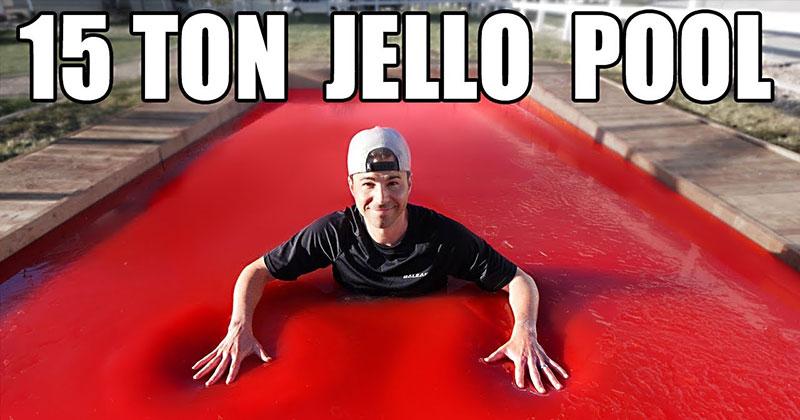 Bellyflopping Into a 15 Ton Jello Pool
