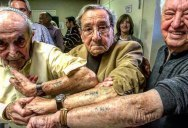 Holocaust Survivors in Same Line at Auschwitz Meet 72 Years Later