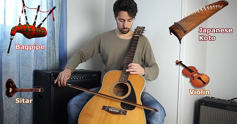Imitating Instruments on a Guitar Without Pedals or Special Effects