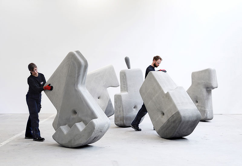 moveable concrete blocks by matter design 3 Moving Giant Concrete Blocks With Just Your Hands