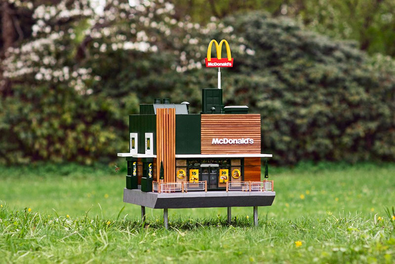 worlds smalest mcdonalds mchive beehive The Sweet Reason Behind the Worlds Smallest McDonalds Restaurant