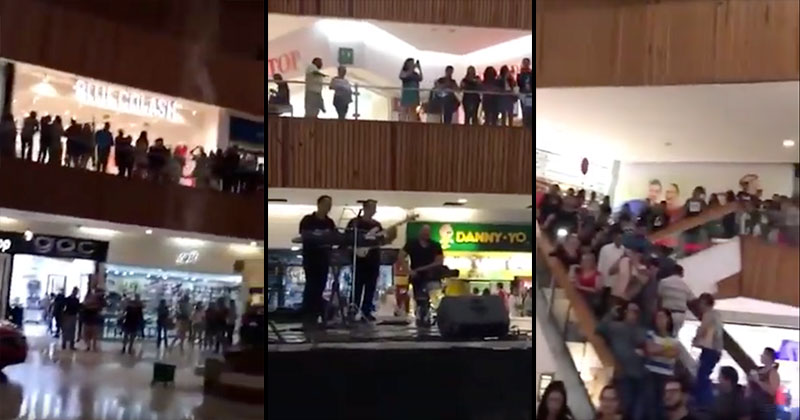 A Mall in Mexico Started Flooding So the Band Played the Titanic Theme Song