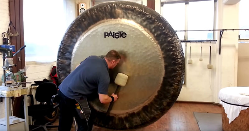 Have You Ever Heard What an 80 Inch Symphonic Gong Sounds Like?