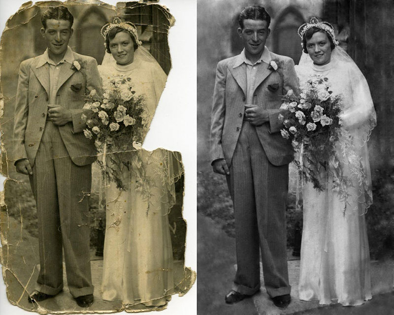 these artists restore old damaged photos and the results are incredible 4 These Artists Restore Old Damaged Photos and the Results are Incredible