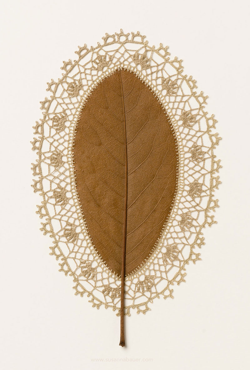 crochet leaves by susanna bauer 11 Artist Crochets New Life Into Fallen Leaves