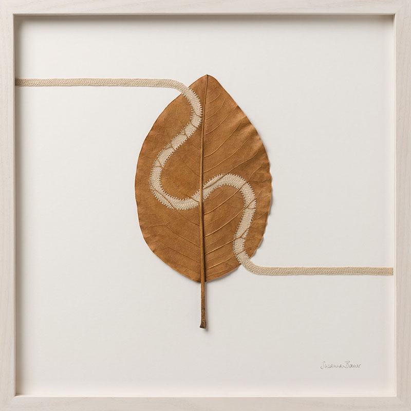 crochet leaves by susanna bauer 13 Artist Crochets New Life Into Fallen Leaves