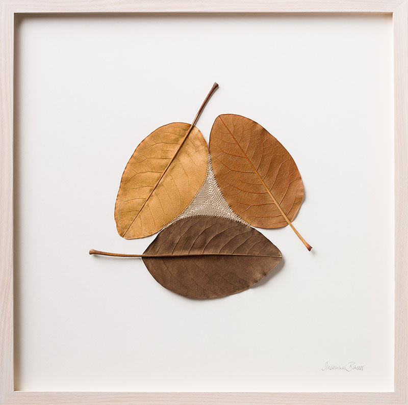 crochet leaves by susanna bauer 17 Artist Crochets New Life Into Fallen Leaves