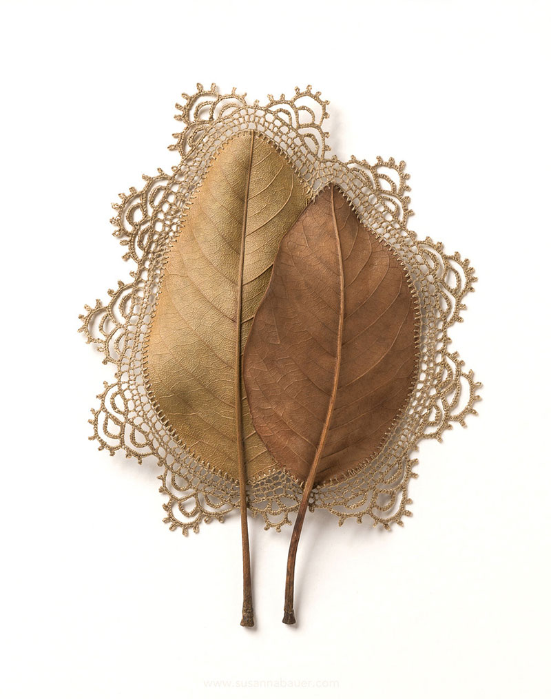 crochet leaves by susanna bauer 7 Artist Crochets New Life Into Fallen Leaves