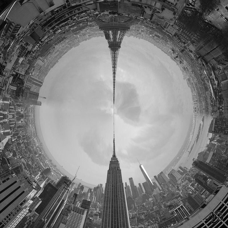 eiffer tower empire state building tiny planet The Eiffel Empire