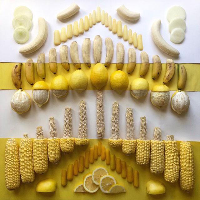 food art by adam hillman 13 21 Delicious Geometric Food Gradients by Artist Adam Hillman