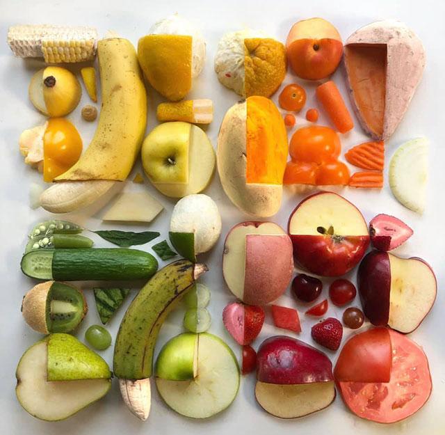 food art by adam hillman 22 21 Delicious Geometric Food Gradients by Artist Adam Hillman