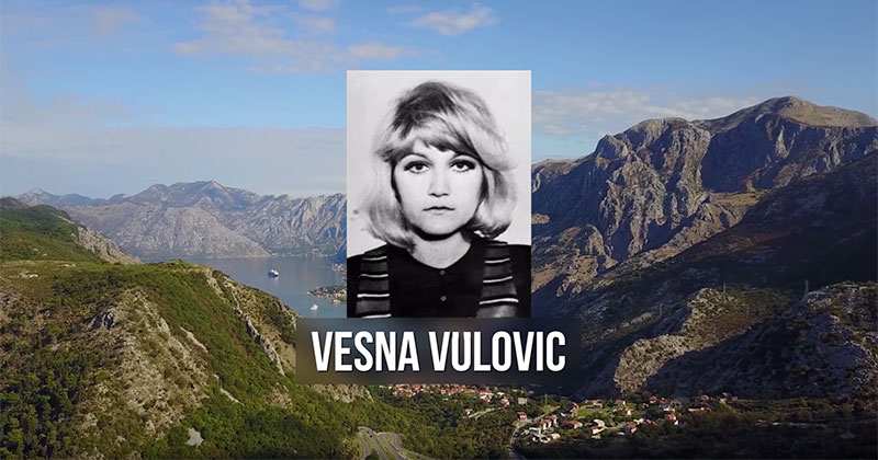 How Vesna Vulovic Survived a 33,000 ft Fall Without a Parachute