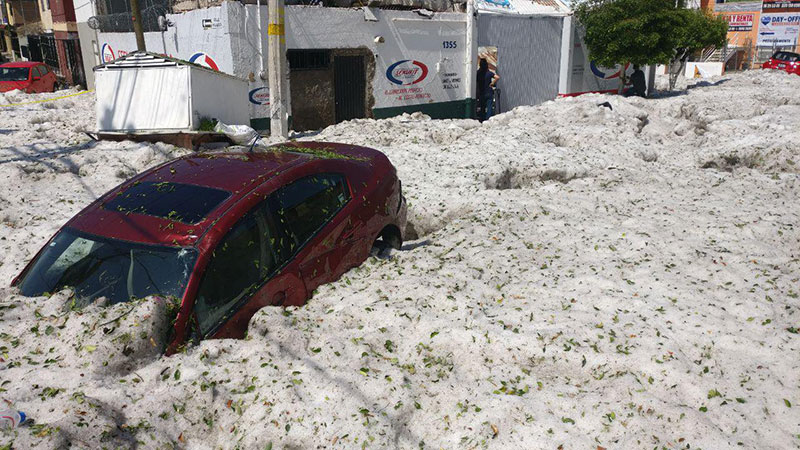 ice snow hail storm in mexico summer guadalajara 2019 7 There Was a Massive Ice Storm... In Mexico... In the Middle of the Summer