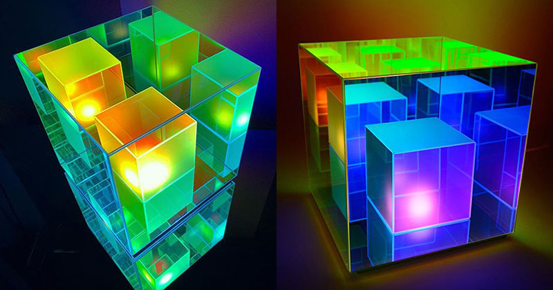 infinity cube lamps by sean augustine march 2 These Infinity Cube Lamps are Incredible (15 Photos)