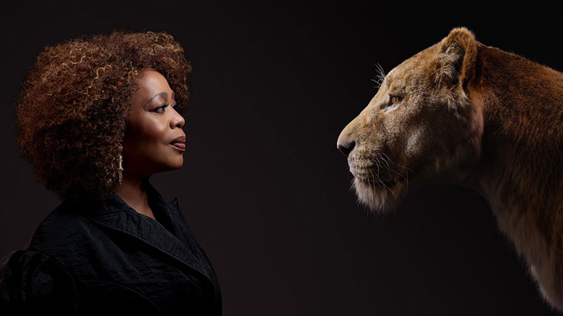 lion king cast and characters 4 New Promo Pics Show the Lion King Cast Meeting Their Animated Counterpart