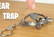 Miniature Keyring Bear Trap Made With No Soldering or Welds