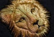 Stunning Animals Embroidered by Hand Using Colored and Metallic Thread