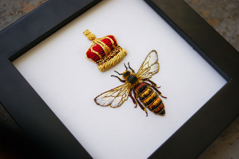 hand emroidered animals by laura baverstock 4 Stunning Animals Embroidered by Hand Using Colored and Metallic Thread