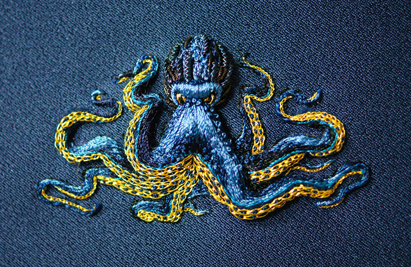 hand emroidered animals by laura baverstock 9 Stunning Animals Embroidered by Hand Using Colored and Metallic Thread