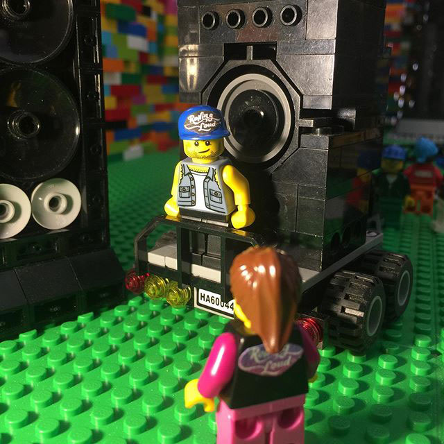 lego sculpture opens up into a mini music festival by dante dentoni 6 This Awesome Lego Sculpture Opens Up Into a Mini Music Festival