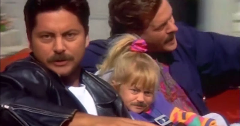 Full House, Only Everyone Looks Like Ron Swanson
