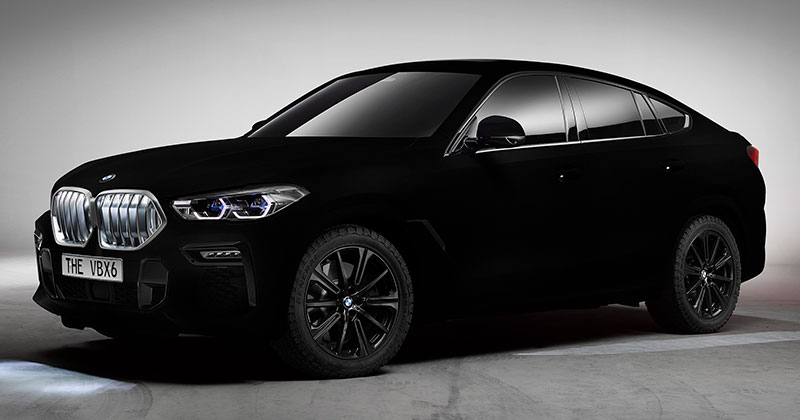 bmw x6 vantablack 1 BMW Unveils One of a Kind X6 in Vantablack