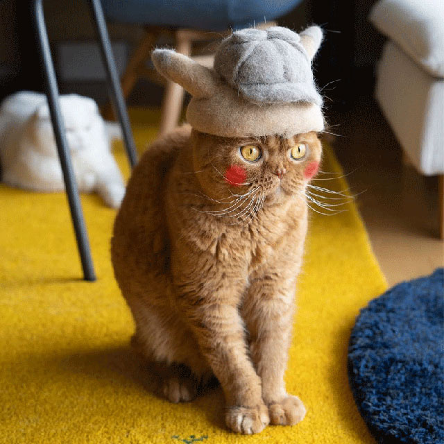 cat hats made from shedded fur 19 These Artists Turn Their Cats Shedded Fur Into Tiny Cat Hats