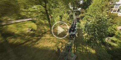 This Chase Footage of an FPV Drone Tracking a Roller Coaster is Incredible