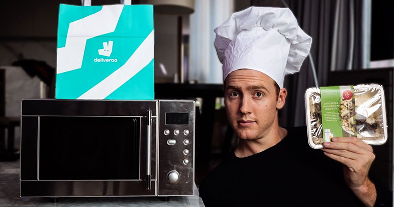 Guy Gets on London Food Delivery App Selling Microwave Meals