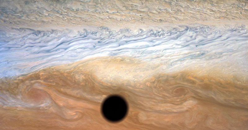 A Solar Eclipse on Jupiter