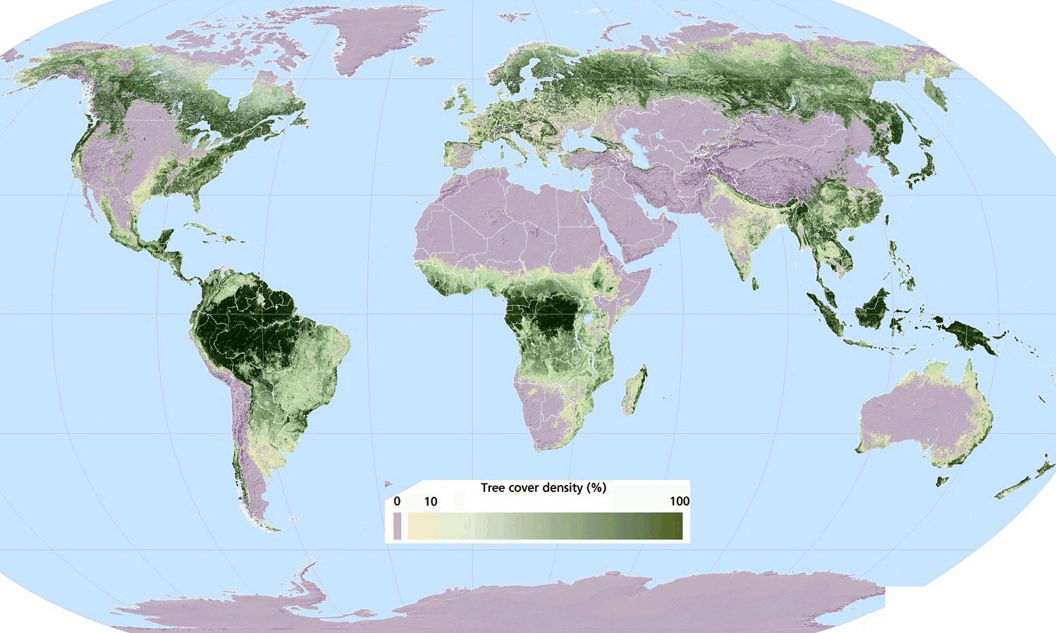 this map of the world shows where our trees grow This Map of the World Shows Where Our Trees Grow