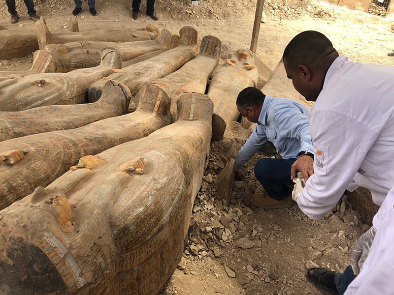 ancient coffins found in egypt 6 30 Ancient Coffins from 3,000 Years Ago Discovered in Luxor, Egypt