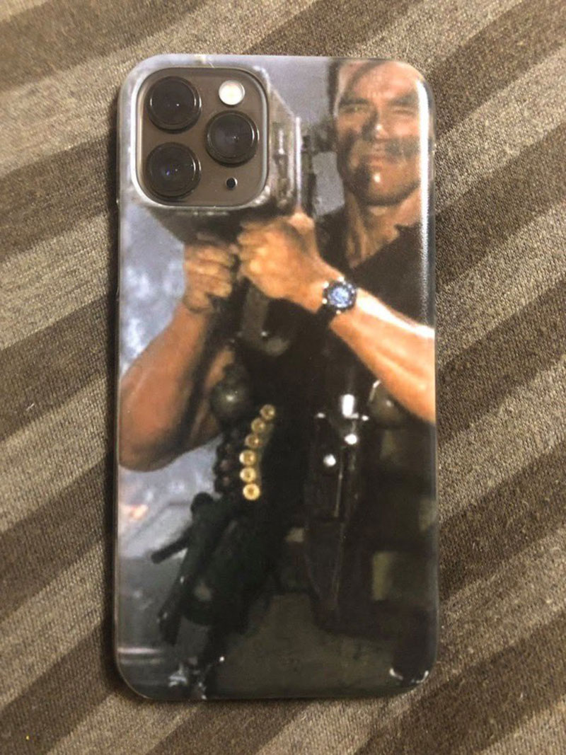 arnold iphone 11 case rocket launcher schwarzenegger Didnt Care for the New iPhone.. and Then I Saw This