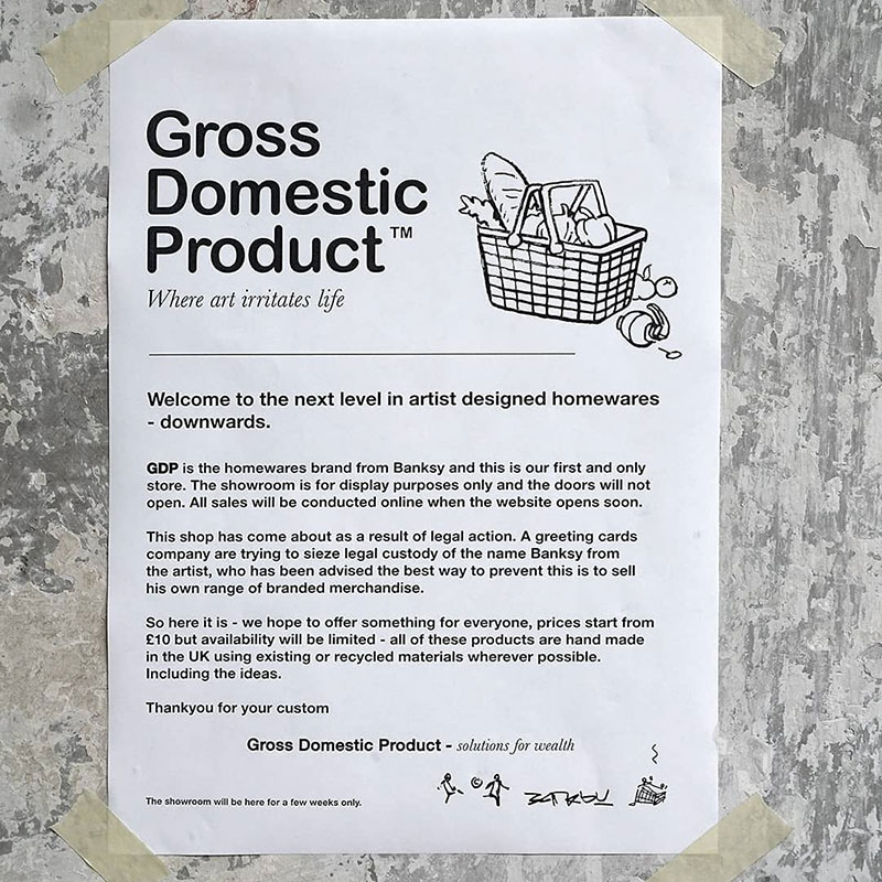 banksy homewares store gross domestic product 19 Banksy Just Opened a Pop Up Homewares Store Called Gross Domestic Product
