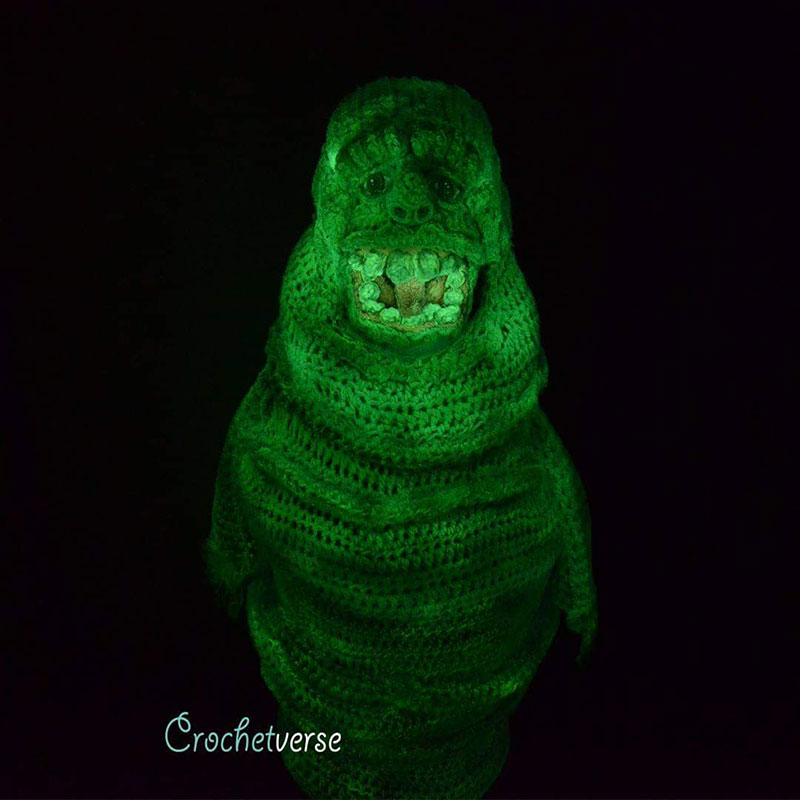 crochet halloween costume by stephanie pokorny crochetverse 13 Every Halloween This Mom Crochets the Coolest Costumes for Her Kids