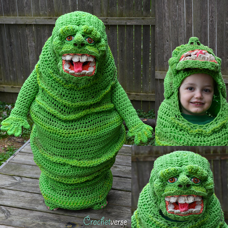 crochet halloween costume by stephanie pokorny crochetverse 15 Every Halloween This Mom Crochets the Coolest Costumes for Her Kids
